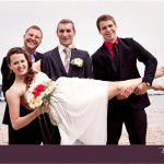 Hochzeitspaar auf Rügen, Standesamt Sellin, Hochzeitsbilder am Strand,